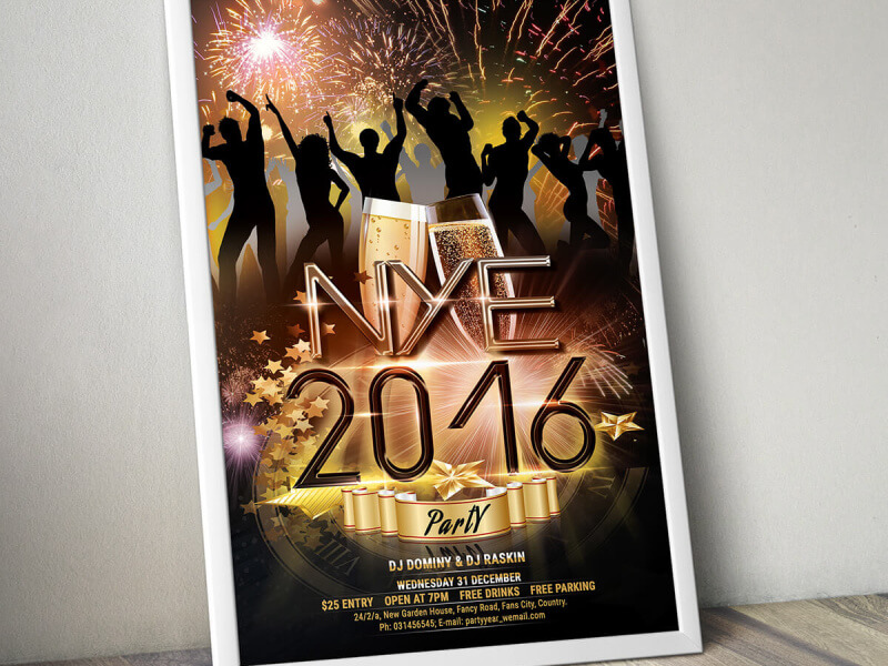 free new year flyer