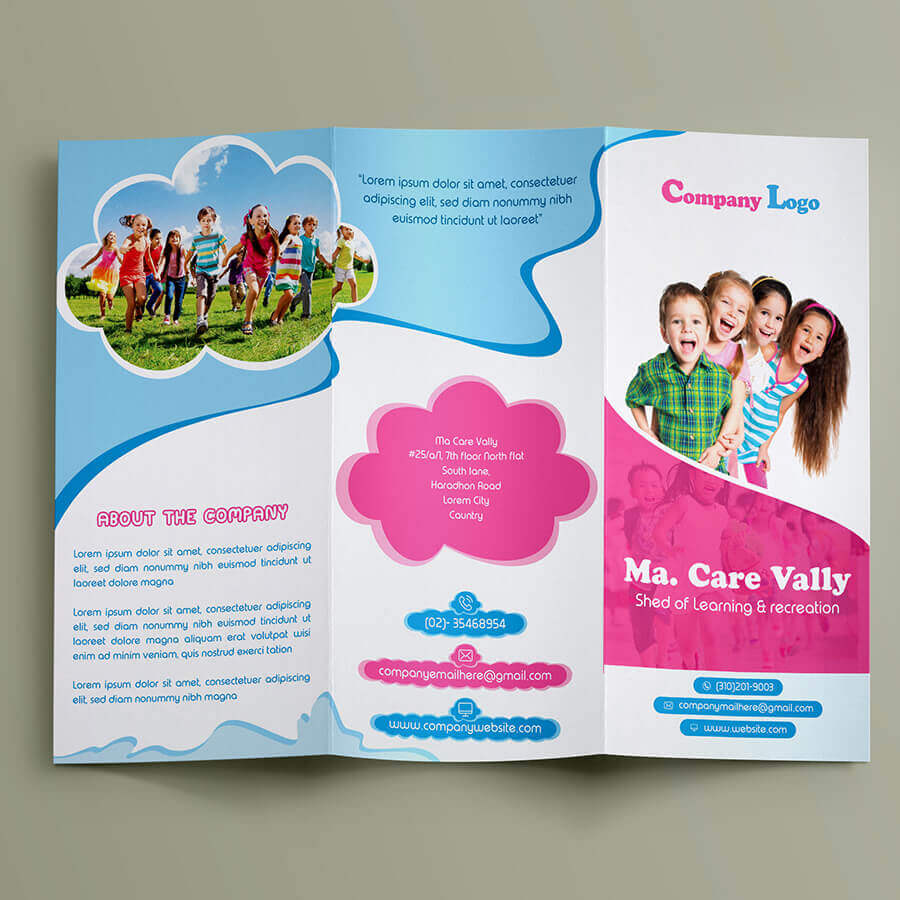 best free child care trifold brochure
